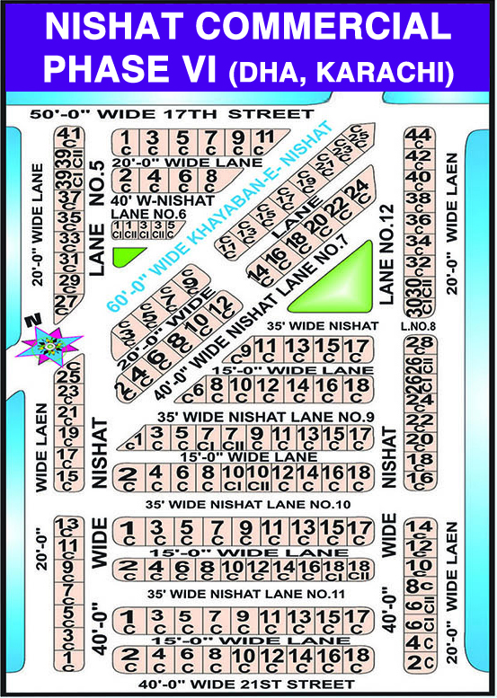 DHA Phase 6: Nishat Commercial - Karachi DHA Commercial Maps