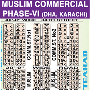 DHA Phase 6: Muslim Commercial - Karachi DHA Commercial Maps