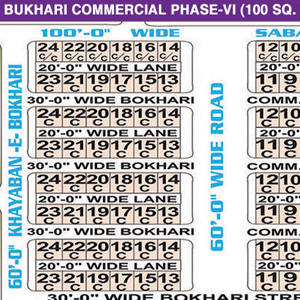 DHA Phase 6: Bukhari Com (Small) - Karachi DHA Commercial Maps